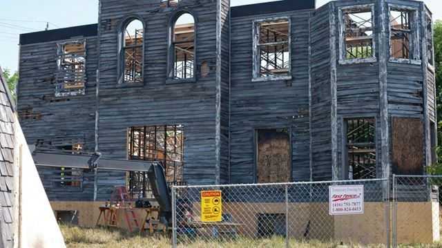 OSHAWA U2013 James Street In Oshawa Is Closed To Local Traffic Only For The  Construction Of A Haunted House Which Will Be Used In Stephen Kingu0027s Movie  It. ...