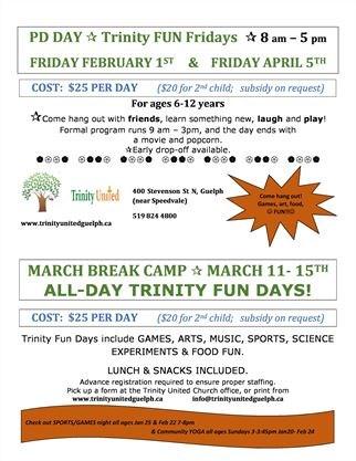March Break Camp on March 11,2019 | GuelphMercury com