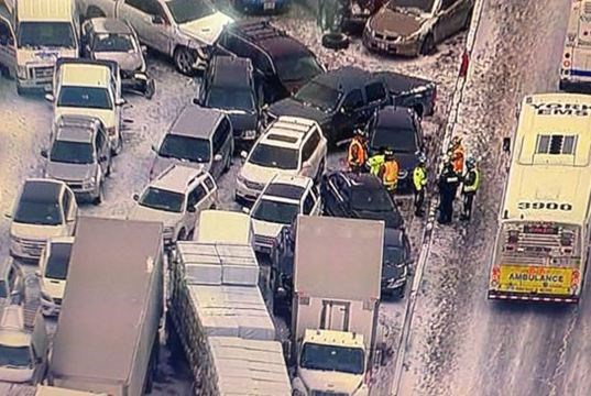 96 vehicles involved in Hwy 400 pileup: OPP | CambridgeTimes ca