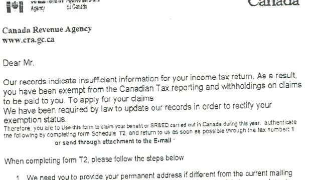 Residents Report Fake Cra Notices Toronto Com