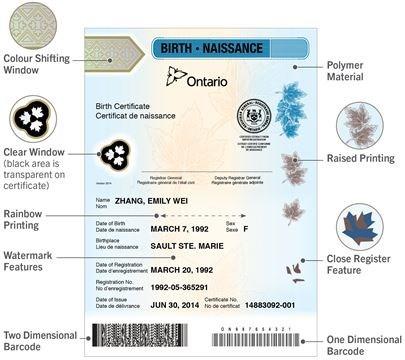 Ontario introduces new birth certificates | DurhamRegion.com