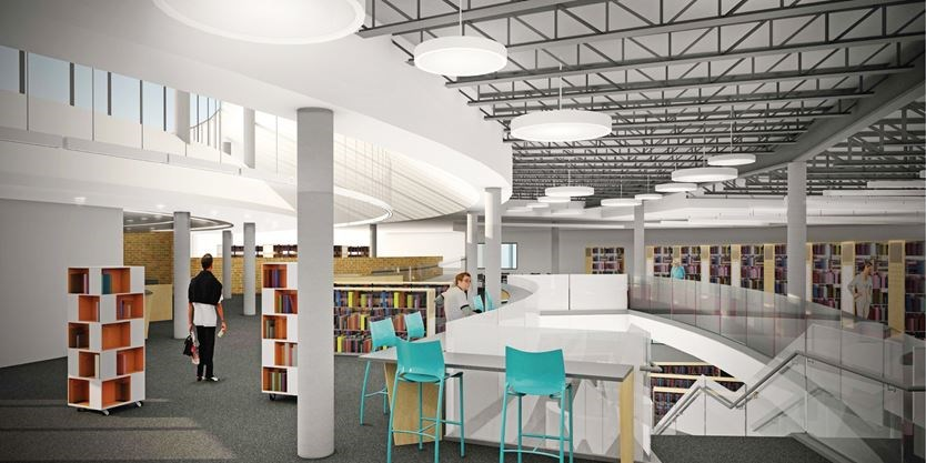 The Renovated Peterborough Public Library Will Have More Natural Light And An Open Staircase With Seating