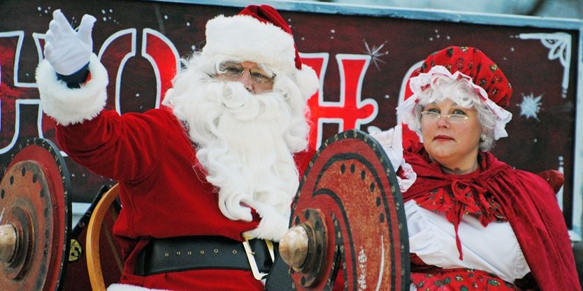 the jolly old elf and mrs claus were the final entry in the thorold santa claus parade on saturday thrilling kids just as dusk started to give way to - Pictures With Santa Claus