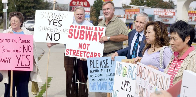 Protesting Streetcars