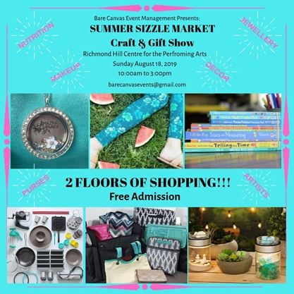Summer Sizzle Market Craft and Gift Show on August 18,2019