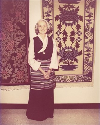 Vivian with rugs
