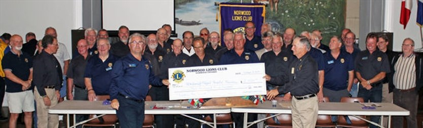 Norwood Lions Club makes donations to Lions Club