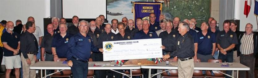 Norwood Lions Club Donations