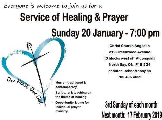 Healing & Prayer Service 20 Jan 2019 on January 20,2019