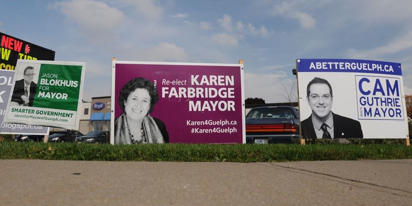 city of guelph contemplating possible bylaw for election signs