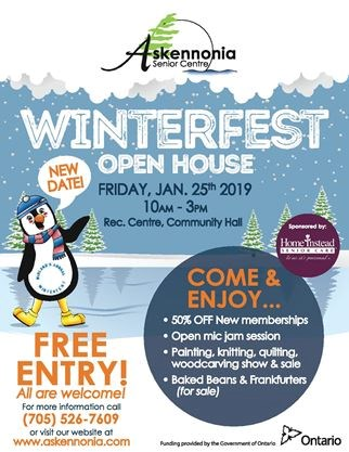 Askennonia's Winterfest 2019 Activities on January 25,2019 | Simcoe com