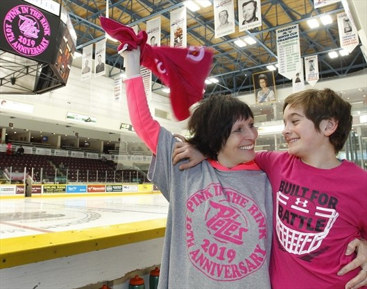 Energy in the air for Pink in the Rink in Peterborough ... 655c19d79