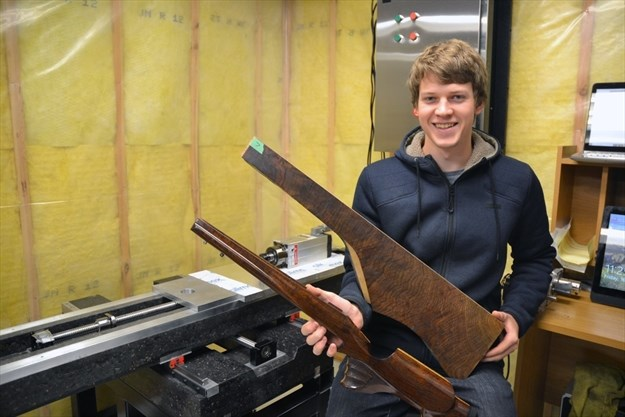 Woodville engineer creates hand-carved gun stocks for clients