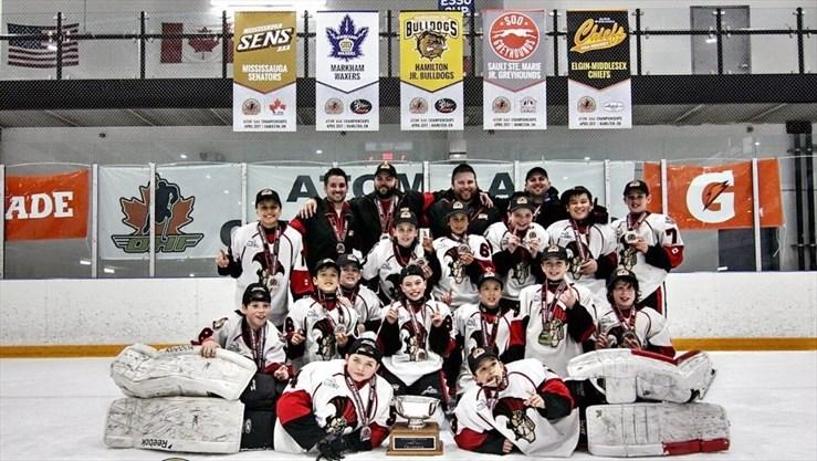 The Mississauga Senators won the Ontario Hockey Federation atom AAA  championships Sunday in Hamilton. - Supplied photo