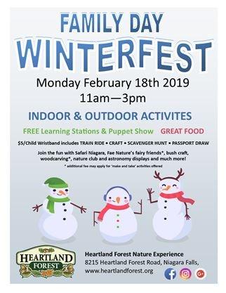 Family Day Winterfest on February 18,2019 | NiagaraThisWeek com
