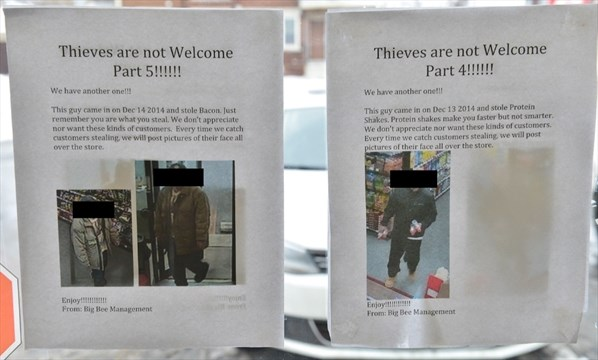 67509380fc PUBLIC SHAMING  Stores posting photos of alleged shoplifters ...
