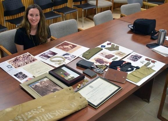 Granddaughter of Hamilton signals corps veteran strives to preserve