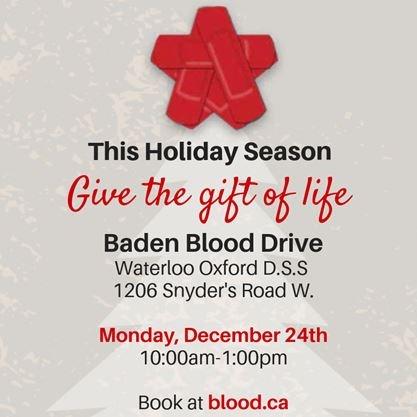 Christmas Blood Drive.Christmas Eve Blood Drive On December 24 2018 Therecord Com