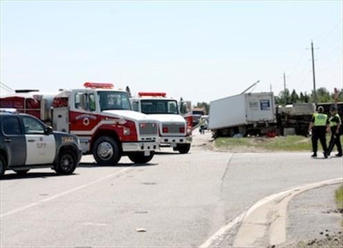 Fuel Truck Creates Dangerous Crash Scene