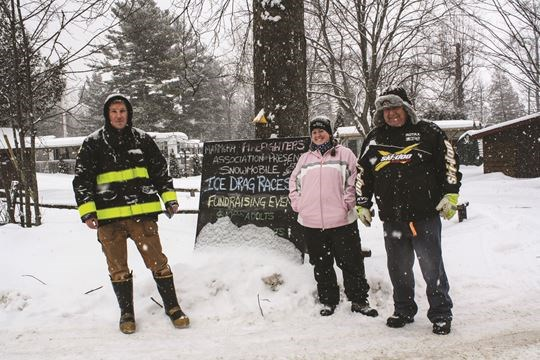 Marmora Firefighters Association Snowmobile Ice Drags