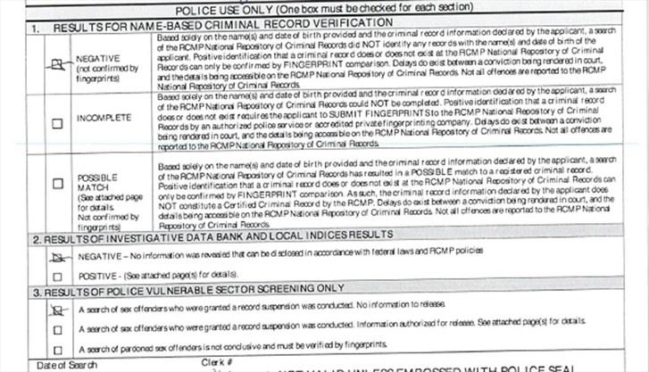criminal warrant background check canada
