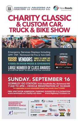 Charity Classic Custom Car Truck Bike Show Big Brothers Big - Classic car show york