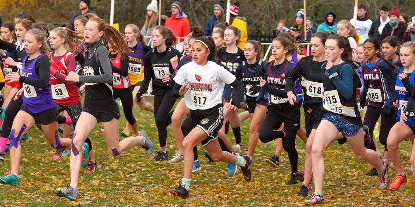Girls start off for midget OFSSA cross country meet at Christie  Conservation Area Saturday. About 1,700 runners from 18 atheletic  associations across the ...