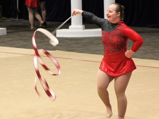 it felt surreal georgetown rhythmic gymnast on her 1st time at