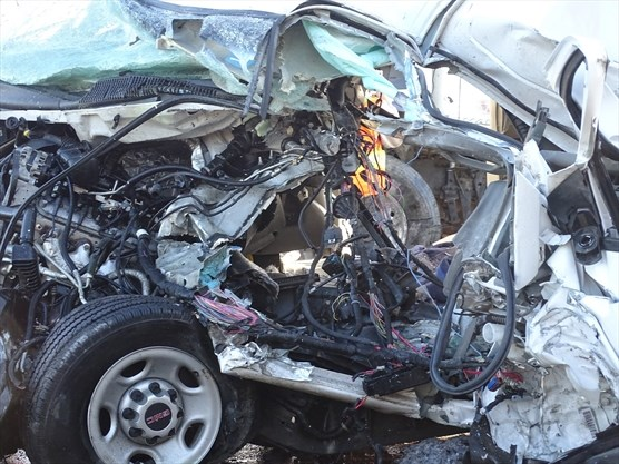 UPDATE: Man, 22, killed in collision between van, dump truck on Hwy  9