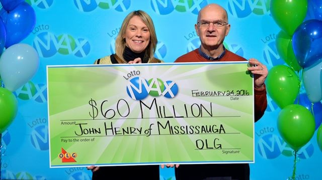 Lotto Max Draw Here He Poses With Wendy Montgomery Ontario Lottery And Gaming Corporation Vice President Of Lottery Marketing At The Olg Prize