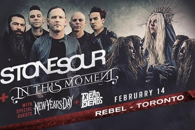 stone sour and in this moment at rebel on february 14 2018 toronto com