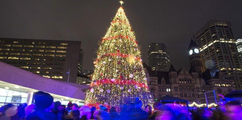 Tree lighting ceremonies in Toronto for the 2018 Christmas season ...