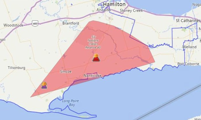 The Area Affected By The Outage Hydro One