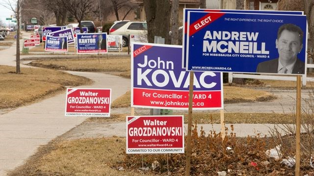 city of mississauga reduces time period for displaying election