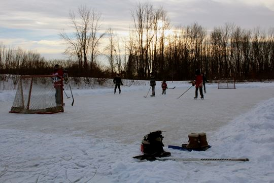pond hockey theres nothing more canadian eh