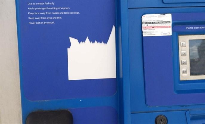 Hamilton retailer sent mandatory Ontario gas pump stickers