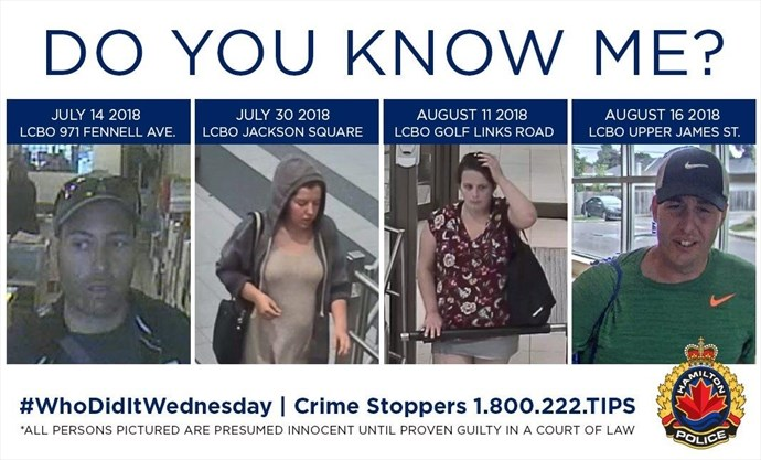 Hamilton police launch social media campaign to ID shoplifters