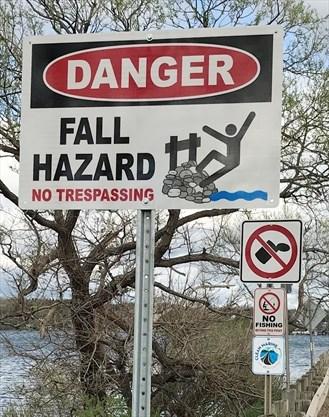 No trespass signs installed along Ennismore/Bridgenorth