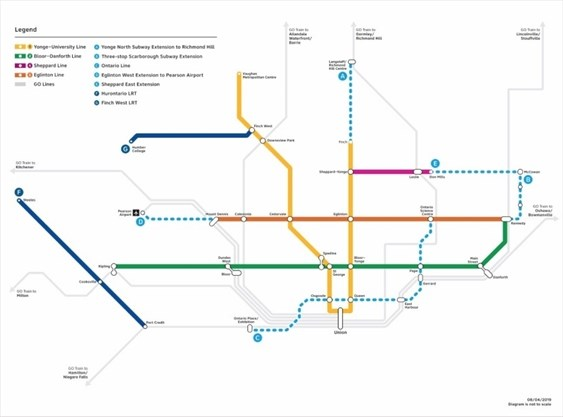 Subway Map N Line.York Region Applauds Announcement Of Yonge North Subway